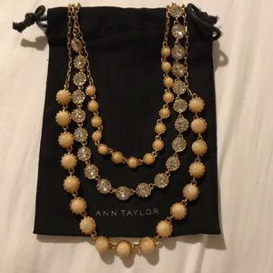 Ann Taylor Blush pink and gold necklace